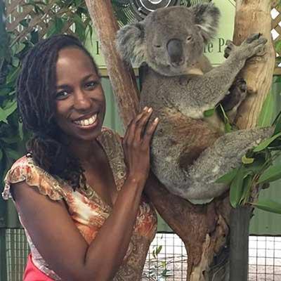 Carlene with Koala